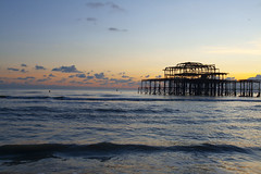 West Pier @ Sunset (Adam Swaine) Tags: sunset seascape seaside pier britain british waterside water england english beautiful westpier channel sussex coastal coast adamswaine canon sky seasons autumn historicalbuildings 2919