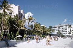 Royal Hawaiian Beachfront 1952 (Kamaaina56) Tags: 1950s waikiki hawaii beach royalhawaiian slide
