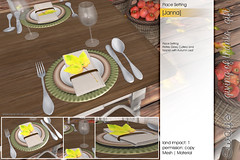 Sway's [Janna] Place Setting | TLC giving of thanks hunt . gift (Sway Dench / Sway's) Tags: autumn fall sways tlc thanks thanksgiving plate leaf hunt free gift
