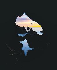 Quand Soudain.. (ThibaultPoriel) Tags: presquîledecrozon îlevierge bretagne grotte sunset crozon morgat reflection silhouette finistère sonya7iii sony alpha