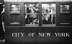 When I was young, I listened to the radio... (mkc609) Tags: street streetphotography bw blackandwhite blackwhite urban candid nyc newyork newyorkcity subway gotham z6 2470 nikon nikonz6