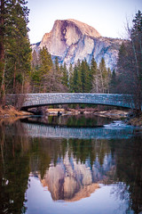 Why Do You Do This to Yourself? (Thomas Hawk) Tags: america california nationalpark usa unitedstates unitedstatesofamerica yosemite yosemitevalley bridge reflection river water fav10 fav25 fav50 fav100