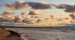An evening stroll before work (Nov 11, 2019). (ms.gulbis) Tags: liepaja balticsea beach baltic sea seashore seascape clouds water walking waves