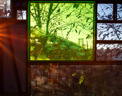 Welcome Back, Kotter (arlene sopranzetti) Tags: tom fruin koloinihavehus brooklyn north farms williamsburg art glass plexiglass house 1970 welcome back kotter avocado green city cityscape ny new york vintage