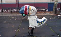 Playground (neilsonabeel) Tags: nikonfm2 nikon nikkor film analogue brooklyn newyorkcity playground bird toucan ride desolate deserted newyork painted worn