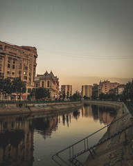 Morning Reflections (Inspired Wanderess) Tags: bucharest romania grunge gloomyafternoons sepia blackandwhite streetphotography communism