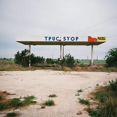 Del Rio, TX (Rancho Labs) Tags: abandonedgasstation delrio kodakektar100 mamiya6 texas truckstop