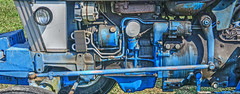 old machine (albyn.davis) Tags: color vivid blue machine technology panorama tractor