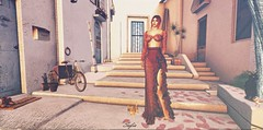Something Red (sofiamisty) Tags: navycopper rowne maitreya catwa avatar minimal backdrop apparel fashion clothing outfit elegance red secondlife sl scenery second life girl virtual cat dog