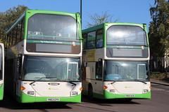 903 (YN53FCV) + 639 (YN55NJK) 18-10-2019 NIS Braintree (routemaster2217) Tags: braintree bus transport lowfloorbus doubledecker travel stephensonsofessex scanian94ud eastlancsomnidekka 903 yn53cfv