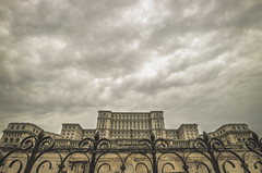 People's Palace (Inspired Wanderess) Tags: bucharest romania grunge gloomyafternoons sepia blackandwhite streetphotography communism