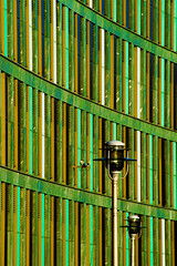 Abstract Architectural Photography 62 (Récard) Tags: abstract architecture architektur geometry facade structure green pattern streetlamp