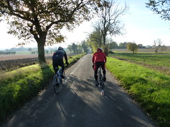 Riding in today's sunshine (Kirkleyjohn) Tags: cycling cycle cyclist cyclisme countryside suffolk sunburst oak trees fields wrinklies wrinkliescycling