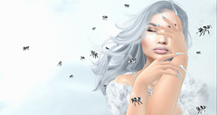 White bees (Layla Falconvale) Tags: enchantment snowqueen whitebees portrait bees nails lepoppycock static pl laylafalconvale sl secondlife slphotography fantasy
