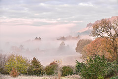 A Land Of Mystery (Deepgreen2009) Tags: fog mist dorking surrey hills frosty autumn sunrise dawn morning cold freezing boxhill weather ethereal atmospheric chill magical mysterious