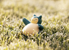 Sleepy Head Snorlax Wakes up in the Frosty Sunshine (Jezbags) Tags: snorlax pokemon nintendo canon canon80d 80d 100mm macro macrophotography macrodreams toy toys toyphotography