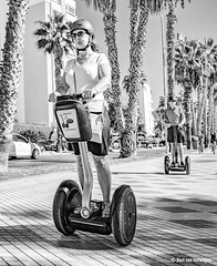Serious Segway (Bart van Hofwegen) Tags: segway transport traffic transportation wheels blackandwhite monochrome people street city urban streetphotography