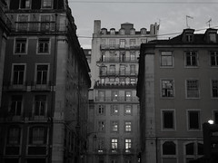 Elevador (jayclarke14) Tags: portugal europe blackandwhite architecture city cityscape dark buildings lisbon