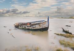 Resting-- (petefoto) Tags: resting wreck essex clouds grass fishingboat filters lee09sgraduatedfilter polariser nikond810 nd106filter elitegalleryaoi bestcapturesaoi aoi