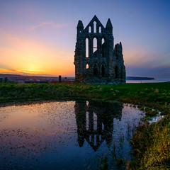 Gothic (colinb4) Tags: church silhouette sunset whitby abbey dusk gothic ruin