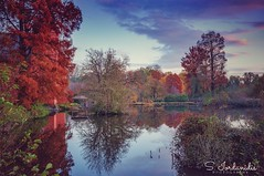 Reflections at the Water Castle (Stathis Iordanidis) Tags: fall trees autumn still water castle leaves flora countryside amazing landscape colorful fujifilm x100