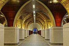 Arches (Croydon Clicker) Tags: station subway precinct mall footpath arches lights people londonbridge london southwark nikkon nikkor