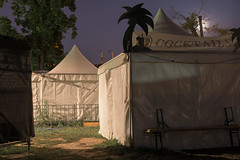 A dream, a little dream of you (Markus Lehr) Tags: tents deserted moon nopeople urban atmosphere night longexposure contemporaryphotography berlin germany markuslehr