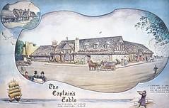 The Captain's Table - Los Angeles, California (The Cardboard America Archives) Tags: losangeles california restaurant vintage postcard artistsrendering capa