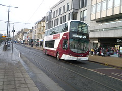 Lothian 1022 on Princes Street, Edinburgh. (calderwoodroy) Tags: bus scotland edinburgh princesstreet doubledecker lothian lothian100 lothianbusescentenary lothianbuses edinburghtransport transportforedinburgh 1022 service29 lxz5407 eclipsegemini2 volvo wrightbus b9tl