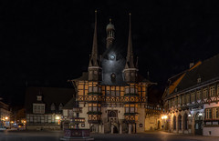 in the evening (Anton Werner - Bildermix) Tags: anhalt harz wernigerode night evening nightshot marketplace halftimbered hochharzbilder