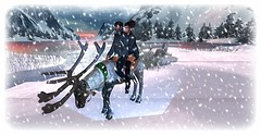 Winter Wonderland (*kAmmieAnn*) Tags: facedesk animated animesh reindeer exclusive themenjail originalmesh walk run fly ride 2passenger soundeffect particleeffect roamingcapable secondlife avatar