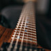 Closeup of Charvel San Dimas electric guitar neck