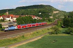 DB 146 247 - Retzbach-Zellingen (D) 01-06-2017. (Reizigerstreinen & trams) Tags: bamberg frankfurt re54 4628 regional express db deutsche bahn br146 146 246 dosto retzbach zellingen maintal bayern germany duitsland deutschland trein train zug loc locomotive rail