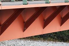 Pedestrian bridge @ Vallon du Fier @ Annecy (*_*) Tags: sony rx100vii m7 2019 november afternoon autumn automne fall annecy 74 hautesavoie walk france europe savoie vallondufier park bridge river red