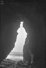 Travel photo, circa 1902. (SDNHM-Library) Tags: lajolla caves lajollacave negatives photoalbums seacaves california sdnhm