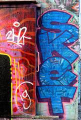 Graffiti in Amsterdam (wojofoto) Tags: amsterdam nederland netherland holland ndsm legalwall graffiti streetart wojofoto wolfgangjosten sket throw throwup throwups throws