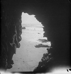 Travel photo, circa 1902. (SDNHM-Library) Tags: lajolla caves negatives photoalbums seacaves california sdnhm
