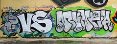 Graffiti in Amsterdam (wojofoto) Tags: amsterdam nederland netherland holland ndsm legalwall graffiti streetart wojofoto wolfgangjosten munch throw throwup throwups throws