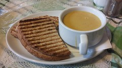 Photo of Cream of Lentil Soup and a Ham Toastie, Banchory, Oct 2019