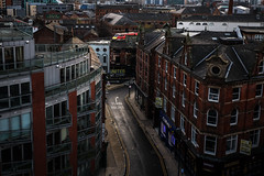 There's a railway through here - somewhere (Andrew Shenton) Tags: 91112 leeds city rooftops kirkgate railway train 5d14