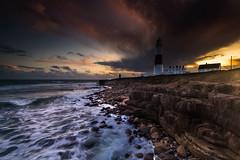 Portland Bill Lighthouse Sunset - Dorset (E_W_Photo) Tags: portlandbill lighthouse dorset england uk sunset waves seascape canon 80d sigma 1020mm leefilters