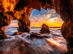 Malibu Beach Sea Cave El Matador State Beach PCH Fuji GFX100 Fine Art Landscape Nature Photography! Colorful Red Orange Yellow Clouds Sunset! Elliot McGucken Master Fine Art High Res Fuji GFX 100 & Fujifilm FUJINON GF 23mm F/4 R LM WR Lens for GFX MF! (45SURF Hero's Odyssey Mythology Landscapes & Godde) Tags: malibu beach sea cave el matador state pch fuji gfx100 fine art landscape nature photography colorful red orange yellow clouds sunset elliot mcgucken master high res gfx 100 fujifilm fujinon gf 23mm f4 r lm wr lens for mf