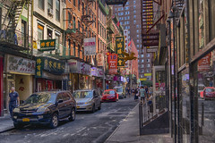 Pell St AM (PAJ880) Tags: pell st morning light signs shops chinatown manhattan nyc new york city