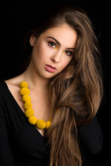 Craspedia (sylvievienne) Tags: approved photography photoshoot photo photographer portrait concept conceptual canon profoto model woman flower yellow jewelry studio beauty makeup