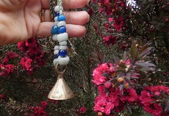Tiny Brass Bell (Room With A View) Tags: bell hand flowers beads odc