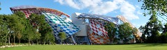 Fondation Louis Vuitton, Paris, France. (suebr) Tags: xf23mmf14r fujifilmxe2s verre toits couleurs urbain urban panoramique panoramic panorama glass roofs colorful art culture building architecture france paris fondationlouisvuitton