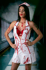 Bloody Nurse Halloween Photoshoot with Lizzy (Ray Akey - Photographer) Tags: