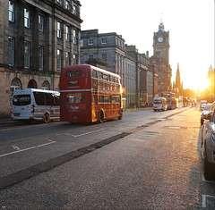 Edinburgh (ArtDen82) Tags: scotland edinburgh uк unitedkingdom autumn sunset doubledecker bus architecture greatbritain
