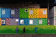 Couleurs urbaines (DeGust) Tags: nocturne suisse bleu vaud romandie vert nuit jaune couleurs lumière ville orange lausanne blue switzerland city colors europa europe green light night town yellow