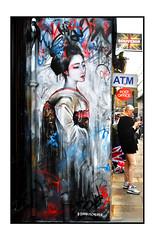LONDON STREET ART by DAN KITCHENER (StockCarPete) Tags: dank dankitchener geisha bricklane streetart londonstreetart urbanart graffiti londongraffiti shoreditch shoreditchart london uk